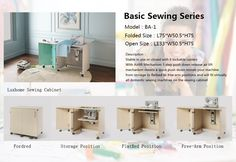 Luxhome Folding sewing cabinet BA-1 #sewingcabinet #foldingsewingcabinet #sewingtable #sewingmachinecabinet #sewingmachinetable andy@luxhome.cc