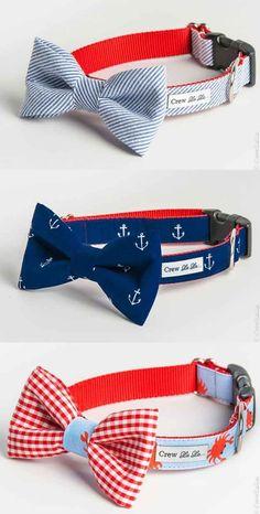 O estos caballerosos collares con corbatas de moño.