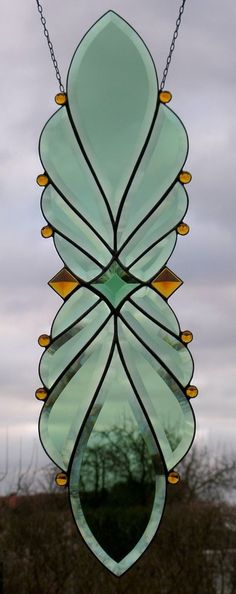 Stained Glass Window Image Facets with Glass Jewels | eBay