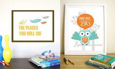 Nursery prints by Urban Tickle   creamylife.com - embracing stylish art and design