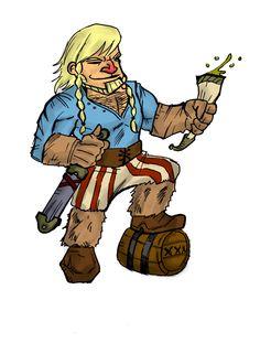 Ulrick, el más gallardo de los vikingos.