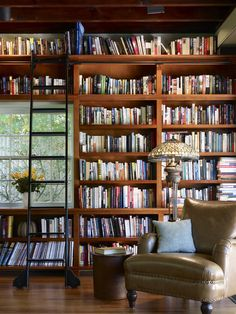 alittleplaceonmain:  This is all I want in a home, just a beautiful library to relax in