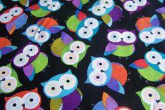 16,00€/m Timeless Treasures Patchwork Baumwollstoff Foxy Owls Eulen Uhu