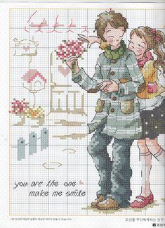 namorados romanticos ponto cruz casal apaixonados ponto cruz graficos de casais apaixonados.