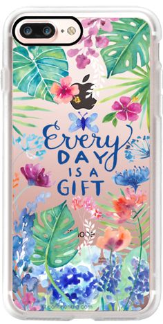 Casetify iPhone 7 Plus Classic Grip Case - Every Day is a Gift by Corinne Haig Designs #Casetify