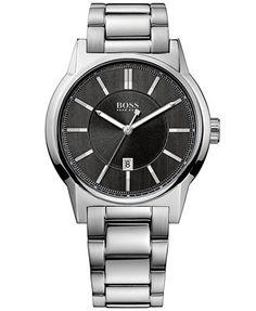 Hugo Boss Watch, Men's Architecture Stainless Steel Bracelet 42mm 1512913