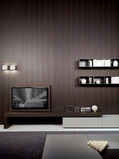 Modern - design by Piero Lissoni - Porro Spa Tv Console Design, Tv Console Modern, Modern Tv Cabinet, Tv Unit Design, Living Tv, Home And Living, Living Room, Modern Living, Tv Furniture