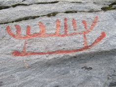 Rock carving in Herand, Hardangerfjord, Norway