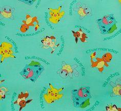 Items similar to Pokemon Fabric BTHY Aqua Pokemon Fabric Pikachu Squirtle Cotton Fabric Eevee Craft Fabric Pillowcase Fabric Pillow Fabric on Etsy Pikachu Pokemon Go, Charmander, Pillow Fabric, Cotton Fabric, Pokemon Fabric, Fabric Crafts, Retro, Aqua, Geek Stuff