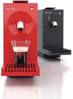 Uno Capsule coffee machine. Red Dot Product Design Award 2012. The design team took a very minimalistic approach, the product has very simple lines and has a single button for waking up from standby and dispensing coffee.