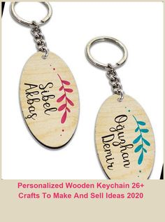 The specified name will be printed on both the front and back. It is sent in blue for men and in pink for women. A key holder will be sent if you purchase it. The keychain is made of maple MDF material and the print on it is made with fadeless and indelible UV technology.#forfriends #forher #wooden crafts to make and sell ideas Personalized Wooden Keychain 26+ Crafts To Make And Sell Ideas 2020