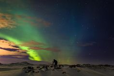 The Aurora Borealis (Northern Lights) in Scandinavia.Best are September through April, 11 pm - 2 am.