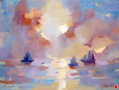 Sunset Watching by Trisha Adams Oil ~ 11 x 14
