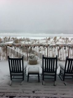 Dunes Manor Hotel - Ocean City, MD - Covered in Snow. Winter Getways on the Eastern Shore.