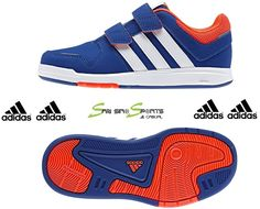 4ae0fd589154cf Adidas Kids Shoes Boys Sneakers Trainers 6 CF M20062 Casual Velcro Blue Adidas  Kids Shoes