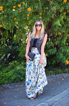 The Floral Maxi Skirt www.devonrachel.com