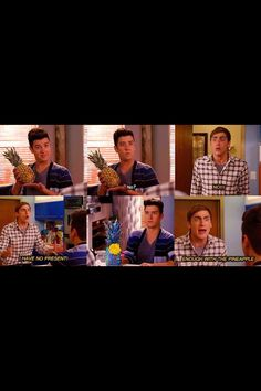 OK THIS IS MY FAVORITE BIG TIME RUSH DIALOGUE IN THE HISTORY OF EVER...Logan henderson ; the pineapple