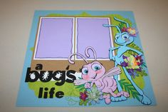 A Bug's Life 12 x 12 Double Page Layout by PaperCraftsByViolet Disney Scrapbook Pages, Scrapbook Sketches, Scrapbook Page Layouts, Scrapbook Paper Crafts, Scrapbook Albums, Scrapbook Cards, Disney Love, Disney Magic, Disney Cards