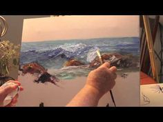 How to Paint: Ocean Wave Part 1-with Marge Kinney - YouTube