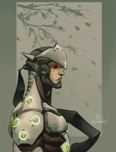 """theresiidentdevil: """" decided to do a pic of genji similar to the one i did of hanzo last night :^)c """""""
