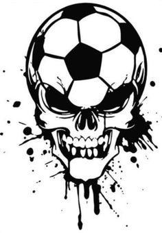 Soccer Skull Decal by VinylDesignsByKim on Etsy