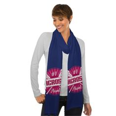 #1 #Lacrosse Aunt Scarf, Customizable. An awesome custom made American Apparel scarf just for you! Priced at $21.95.  This design is available on a whole range of apparel and goods! Please visit my store: www.zazzle.com/gamefacegear*/  #worldlacrossechampionships #Denver2014