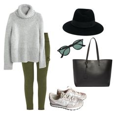 """""""Untitled #38"""" by muntsa on Polyvore featuring Mother, Madewell, Maison Michel, Ray-Ban, Yves Saint Laurent and NIKE"""