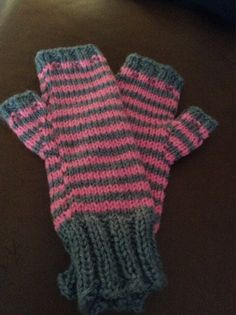 Hand knitted fingerless texting mittens on Etsy, $30.00