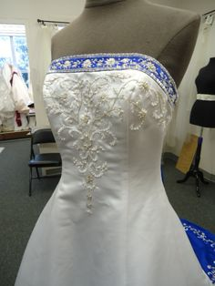 Alfred Angelo Style 1516 Size 8 Cobalt Wedding Dresses View3