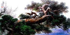 (North Korea) A Pine by Kim Seong-deok (1967-  )