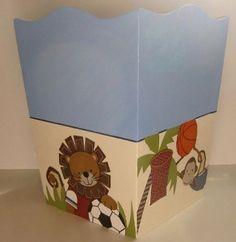Nursery Trash Can M2M Team Safari Bedding by RenaesLetterBoutique, $32.99