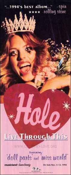 Courtney Love / Hole -- Live Through This: Album of my teen years                                                                                                                                                                                 More