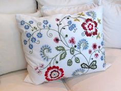 Amazon.com: Ikea Alvine Flora Cushion Pillow Cover + Duck Feather ...