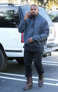 Kanye West out in Calabasas, CA