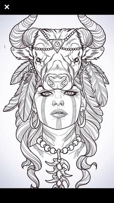Cool Sketches, Tattoo Sketches, Toros Tattoo, Tattoo Arm Designs, Bullet Journal Banner, Native American Images, Graffiti Characters, Free Adult Coloring Pages, Aztec Art