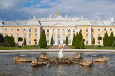 The Peterhof, or Grand Palace of Peter the Great, St. Petersburg, Russia