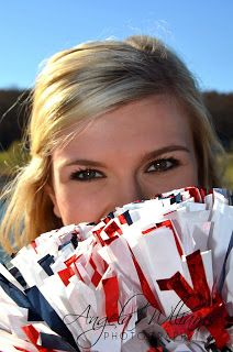 I like the idea of the pompoms covering part of the face Cheerleading Senior Pictures, Senior Cheerleader, Cheerleading Cheers, Football Cheer, Cheer Stunts, Girl Senior Pictures, Cheer Dance, Senior Pics, Volleyball Pictures