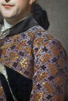 Portrait of Prince Vladimir Golitsyn Borisovtj by Alexander Roslin 1762 (detail). Oil on canvas. Malmo Konstmuseum, Sweden.