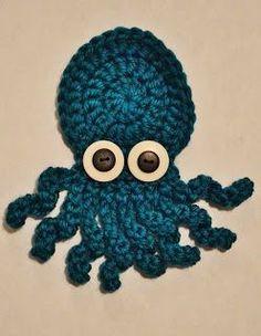 The Sequin Turtle: Basic Crochet Octopus Applique Pattern