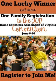 Register with Lit Mama Homeschool to win a free Family Registration to the HEAV Homesschool Convention june 8-10 2017