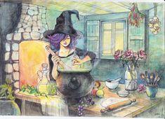 witch-at-kitchen by llyokoll on DeviantArt