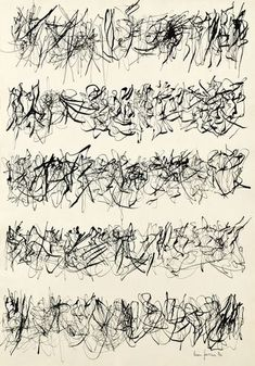 Leon Ferrari - Escritura - 1976 - inchiostro su carta I see dancers Poesia Visual, Art Chinois, Digital Museum, Writing Art, Black And White Abstract, Abstract Drawings, Calligraphy Letters, Art Graphique, Lettering