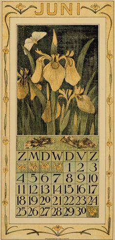 Theodoor van Hoytema, calendar 1911 June