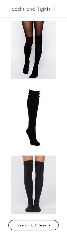 """""""Socks and Tights 1"""" by caidenisabelle10 ❤ liked on Polyvore featuring intimates, hosiery, tights, black, socks, legs, pants, ribbed pantyhose, shiny stockings and asos tights"""