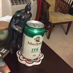 It's a @mayflowerbrew and #batman #saturday night #beer #crossfit #MMA #dc #bodybuilding