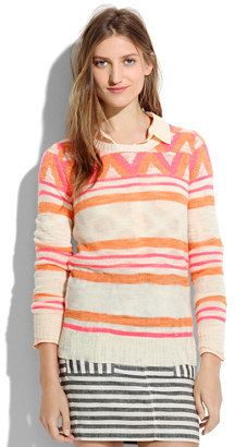 Patterned sweater! #madewell