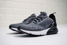 Nike Air Max 270 Flyknit WhiteBlack Shoes AH8060 100 For Sale