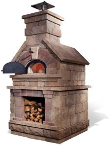 brick wood burning oven