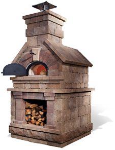 brick wood burning oven