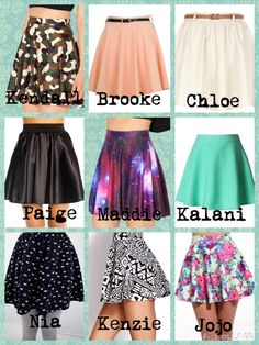 Comment your fav mine are Kendall's, Brooke's, Chloe's, Maddies, Kalanis, Paige's and mackenzies